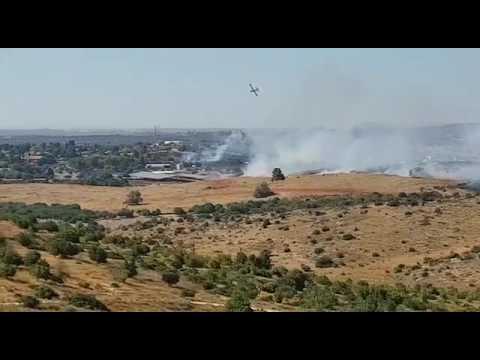 Croatian fire fighting plane operates in Israel