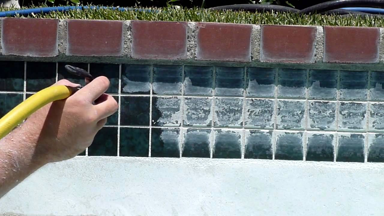 Pool Tile Cleaning By Elite Pool Tile Cleaning Youtube