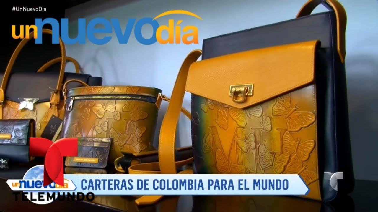6ef055a4a Carteras, morrales y billeteras de Colombia para el mundo | Un Nuevo Día |  Telemundo