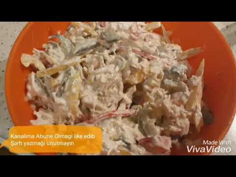 Toyuq Salatı.Yüngül+lezzetli+doyumlu