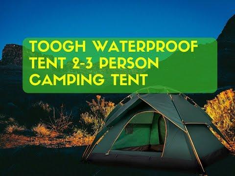 Toogh Waterproof Tent 2-3 Person C&ing Tent Backpacking Tents & Toogh Waterproof Tent 2-3 Person Camping Tent Backpacking Tents ...
