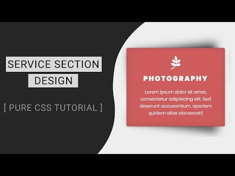 Service section design with box shadow effect | Web Design Tutorial