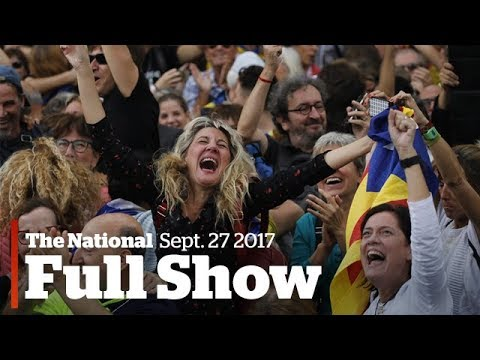 The National for Friday, October 27, 2017: Catalonias independence, mental health on campus