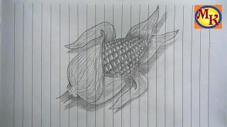cara menggambar jagung (speed drawing)