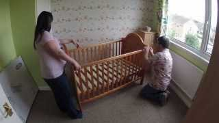 Obaby B Is For Bear Country Pine Cot Bed Construction Time-lapse