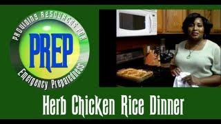 Herb Chicken Rice Dinner | Food Storage Recipe