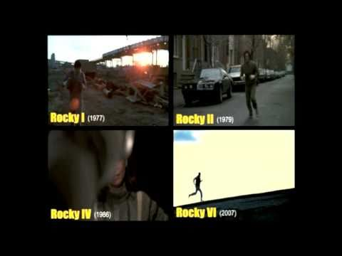 Rocky 1,2,4 and 6 - Training -SPLIT SCREEN- with Gonna Fly Now in **HD**