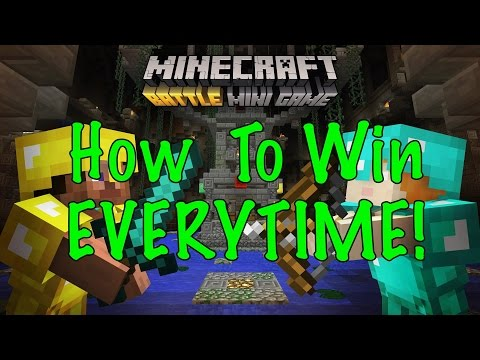 How to win every time - BATTLE MODE Minecraft - Xbox or Playstation - EASY