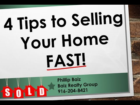 4 Tips to Selling Your Home Fast - Phillip Baiz Keller Williams Realty