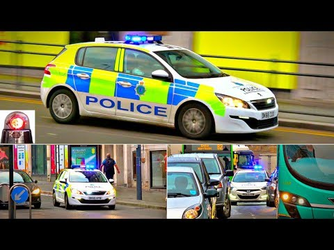 Police Cars Responding (X3) Lights and Sirens in Liverpool (Merseyside)