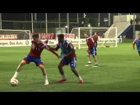 2 x 15 Minuten - Komplettes Trainingsspiel des FC Bayern in Doha - Whole training match FC Bayern