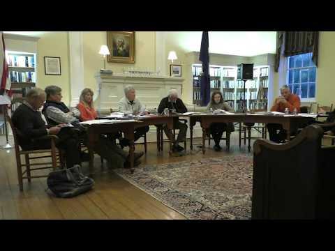 Washington Town Council public meeting, April 9, 2018