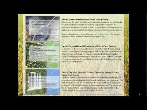 The Declaration of Natural farming & Modular Plant Factory Concept (植物工場) TEL: +886-2-26091602