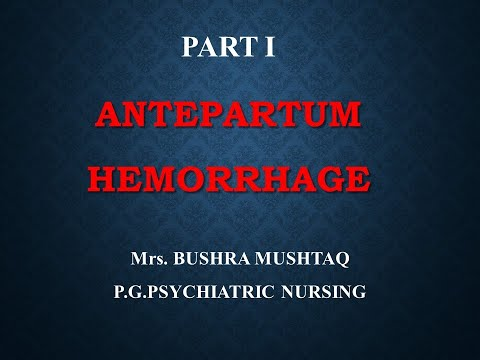 antepartum-hemorrhage-|part-i|-mrs-bushra-mushtaq|
