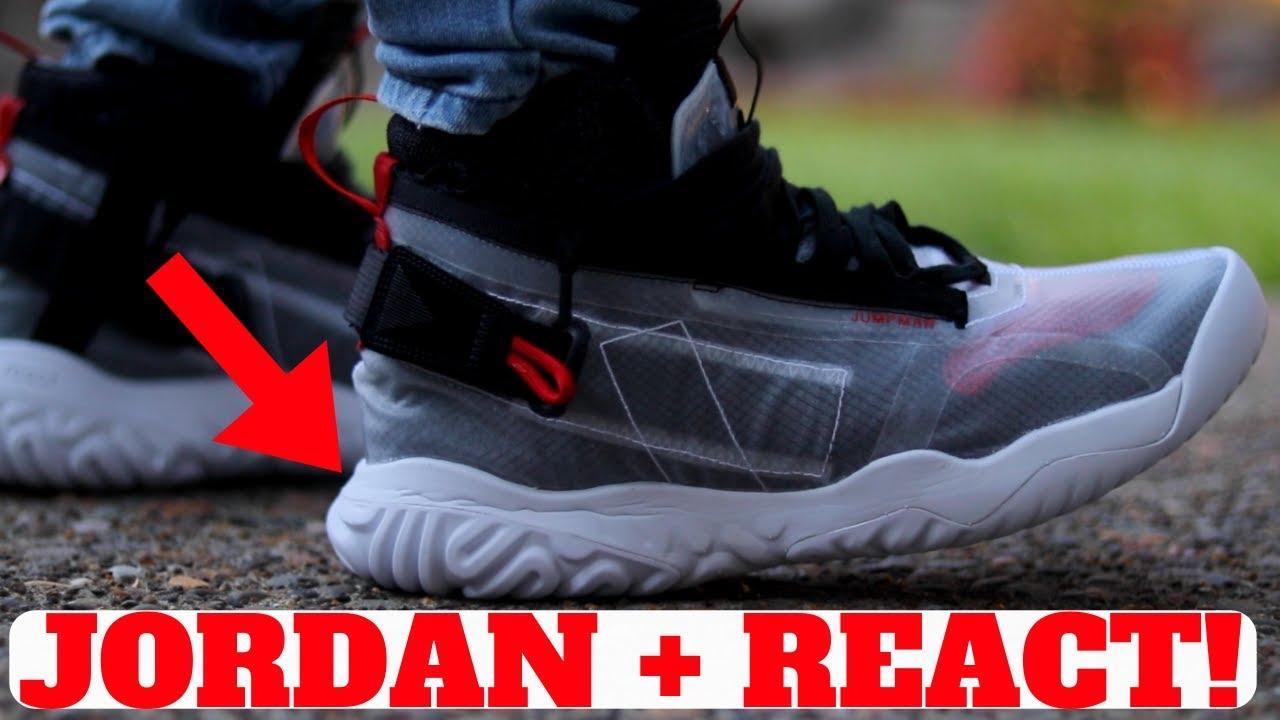 7b156fb7138ee JORDAN APEX UTILITY Review! (Air Jordan 1 + React Technology!) - YouTube