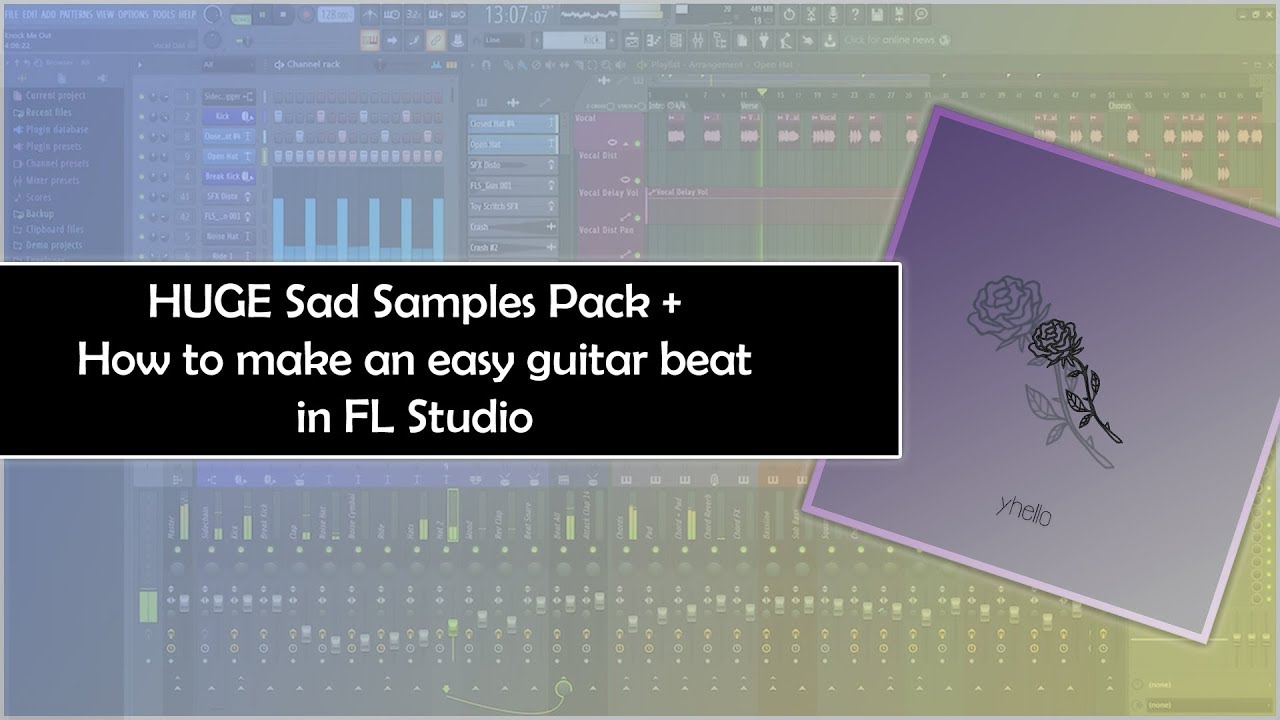 [FREE] SAD GUITARS SAMPLE PACK #1 | HOW TO MAKE GUITAR BEATS WITH SAMPLES IN FL STUDIO.
