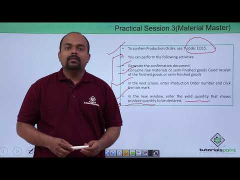 SAP PP - Production Order Confirmation - YouTube
