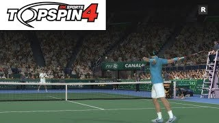 Top Spin 4 - Roger Federer vs Novak Djokovic - PS3 Gameplay