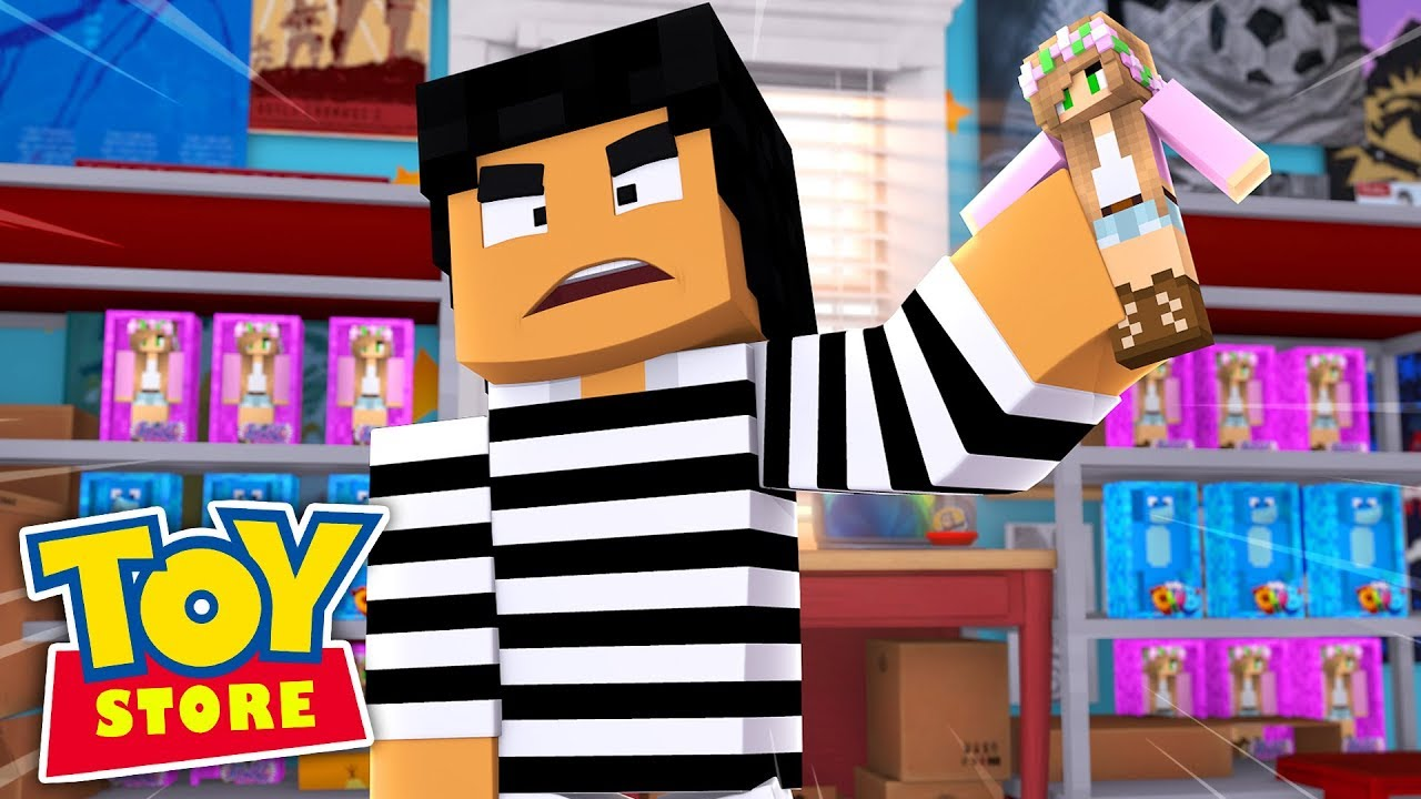 A BURGLAR BREAKS INTO THE TOY STORE! Minecraft ToyStore | Little Kelly