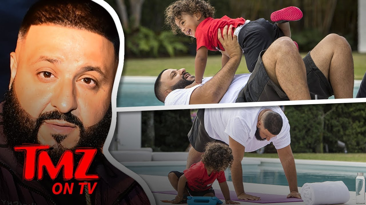 DJ Khaled Has The Cutest Workout Ever With His Son | TMZ TV