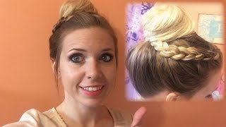 How To Easy Braided Bun Updo Tutorial! #CarolinaStyleHairSalon