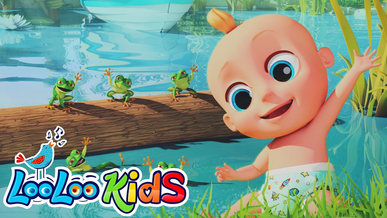 Five Speckled Frogs | Fun time for KIDS | LooLoo Kids | Songs for KIDS