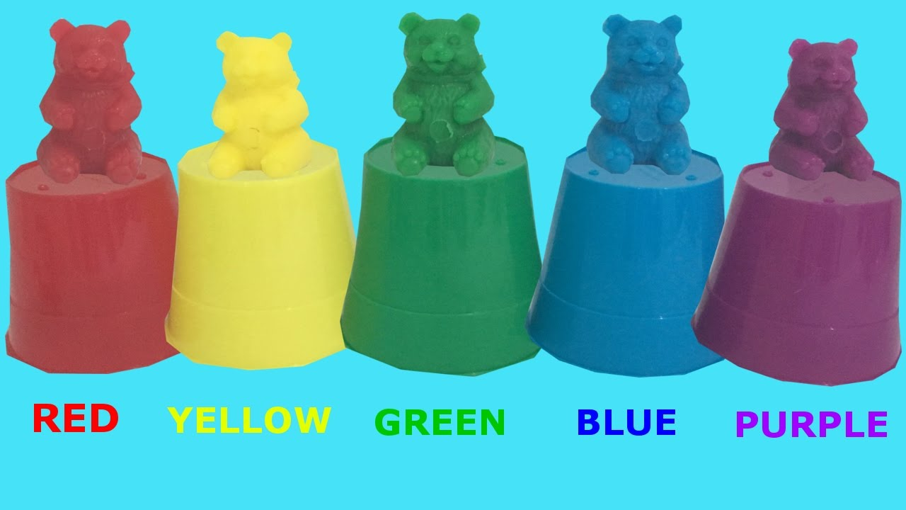 Learn colors with Counting Bears. Colours are Red, Yellow, Green ...