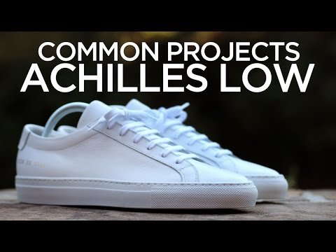 Closer Look: Common Projects Achilles Low - White - YouTube