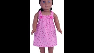 1. 18 Inch And American Girl Doll Clothes Patterns Summer Nightie - Preview