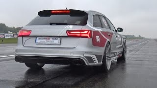 Audi RS6 Avant Performance w/ Akrapovic Exhaust - REVS & DRAG RACE!