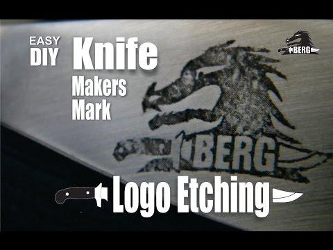 DIY Knife Makers Mark Etching and logo design