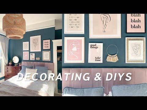 3 DIY Home Decor Ideas and mini Bedroom Transformation ✨