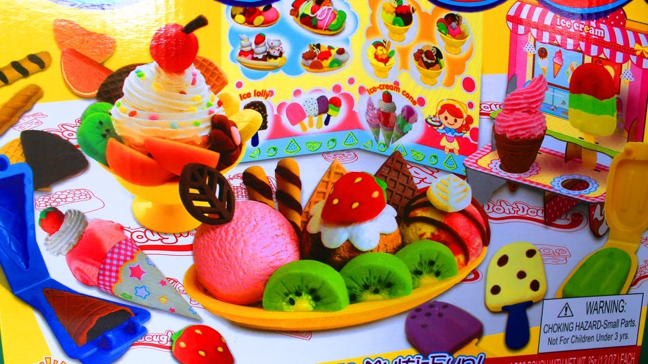Doh Dough Ice Cream Set Play Dough Ice Cream Shop Ice Cream Swirl