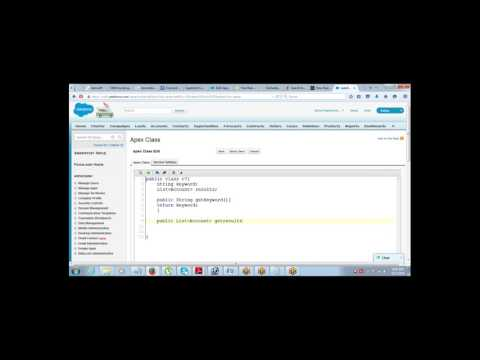 Building a Search Interface in Salesforce using SOSL Query and Apex Set Method