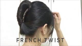 Búi tóc Kiểu Pháp    How to: French Twist