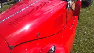 Morgan at raby castle car show