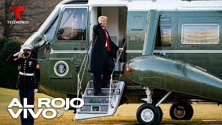 Donald Trump se despide de la Casa Blanca y asegura que pronto se le volverá a ver