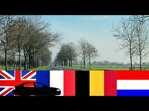 TIMELAPSE RIDE ENGLAND FRANCE BELGIUM NETHERLANDS