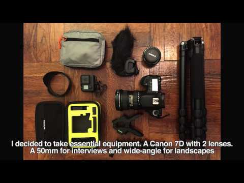 (12/12) El Viaje y Equipos Audiovisuales / The travel journey and production equipment