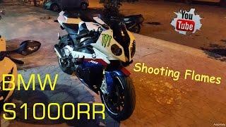 BMW s1000rr - BMW HP4, Exhaust Shooting Flames & BMW SportBike Sound, Crazy Speed BMW Bike!!