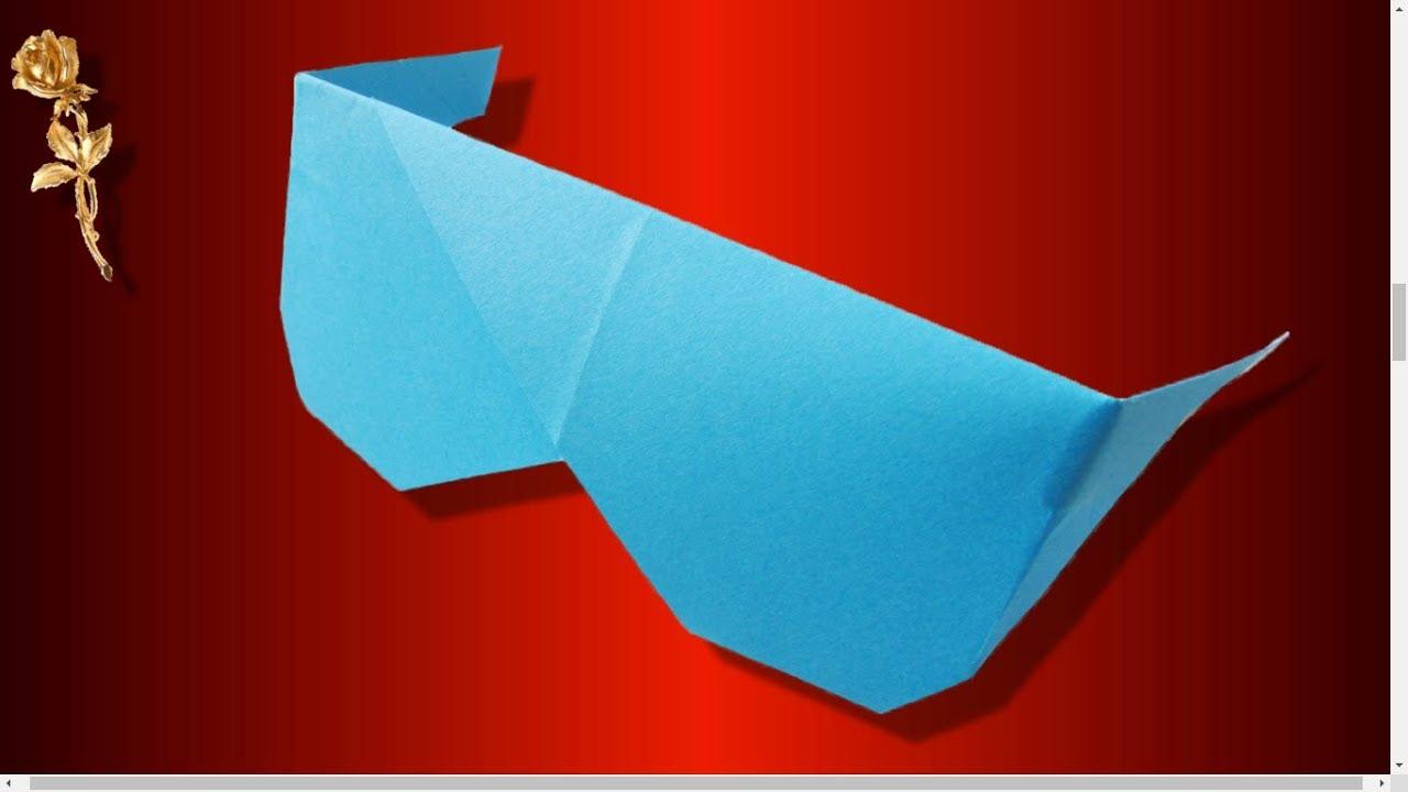 origami facile lunettes de soleil youtube. Black Bedroom Furniture Sets. Home Design Ideas