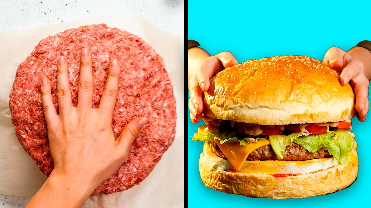 29 Kitchen Hacks That Will Shake You To The Core Giant Food Challenge By 5 Minute Recipes Youtube