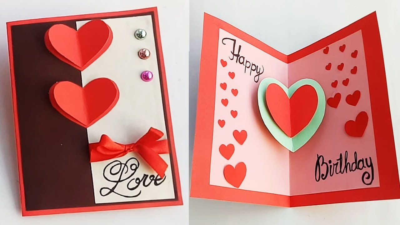 How To Make Birthday Card For Boyfriend Or Girlfriend Handmade Idea