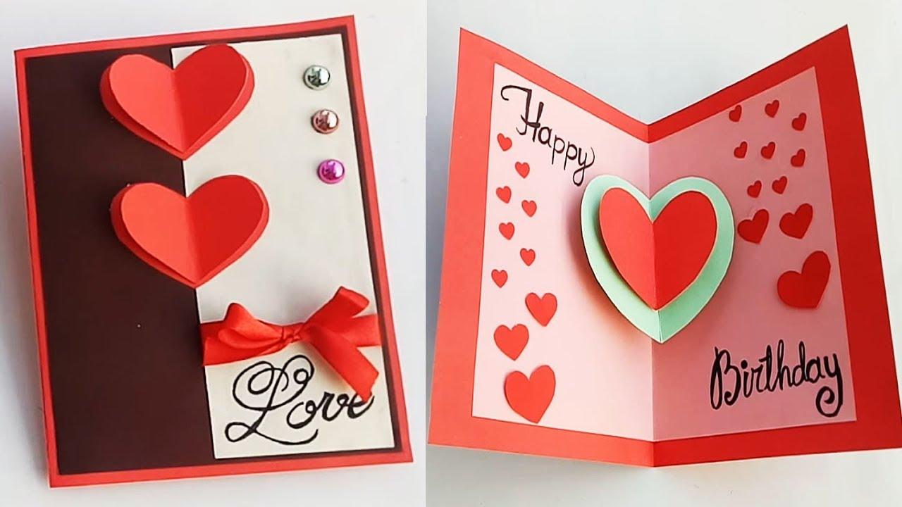 How To Make Birthday Card For Boyfriend Or Girlfriend Handmade Birthday Card Idea Youtube