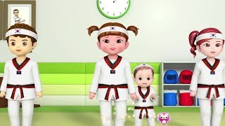 Kongsuni and Friends | Let's Learn Taekwondo | Nursery Rhymes For Children | Videos For Kids