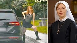 TV-Nonne Antje Mönning nackt bei Polizeikontrolle