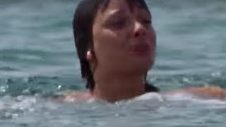 Peri saved from drowning - Doctor Who - Planet of Fire - BBC
