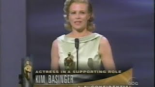 Kim Basinger winning Best Supporting Actress for L.A. Confidential