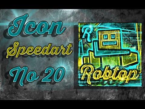 Icon Speedart #20 - RobTop ( ͡° ͜ʖ ͡°)