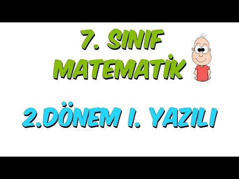 7.Sınıf Matematik 2.Dönem 1.Yazılıya Hazırlık